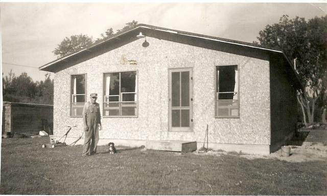 Emmitt Conrad building the lodge Aug 1965