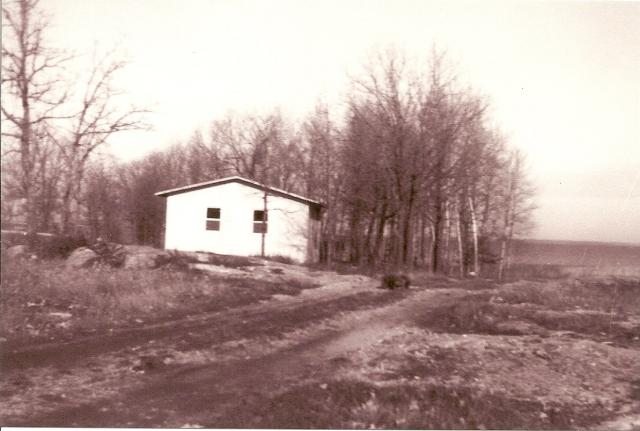 This is Cabin #1 when it was just built.  This view is from the lodge.