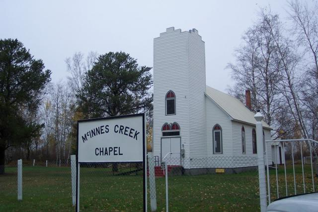Quaint little church nestled in the pines near Harris Hill Resort.