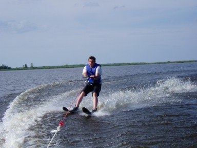 Waterskiing on Lake of the Woods at Harris Hill Resort: Family fun that is great for everyone.  Enjoy the skiing, the boating or just watching the fun.